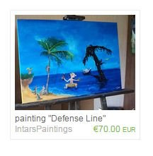 "painting ""Defense Line"""